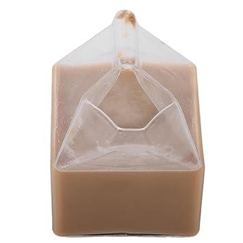 Unitedheart Botella de Vidrio de Leche, única American Half Pint Creamer Taza de Leche Copa