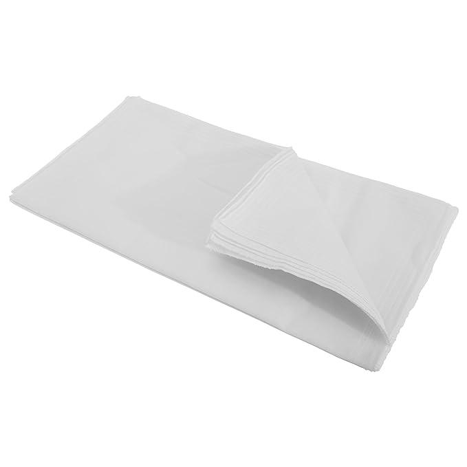 Pañuelos básicos de tela blancos para hombre caballero (Paquete de ...