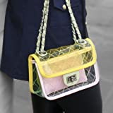 Bolsa Passeio Transparente cor Amarelo - Amo Bolsas