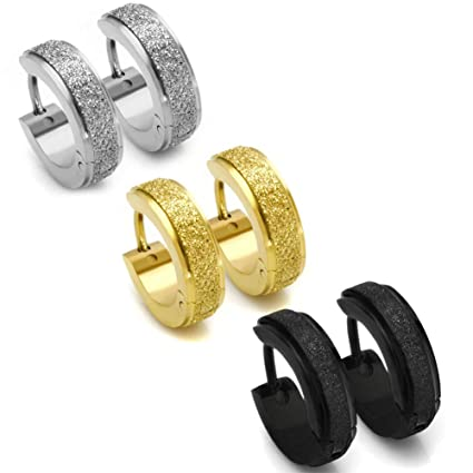 5f7361331 Chryssa Youree Stainless Steel Womens Hoop Earrings for Men Huggie Ear  Piercings Hypoallergenic 20G (ED-75) (Three Pairs 3 Colors): Amazon.in:  Electronics
