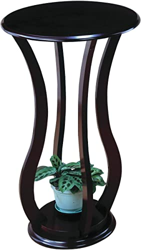 Round Plant Stand Table Cherry