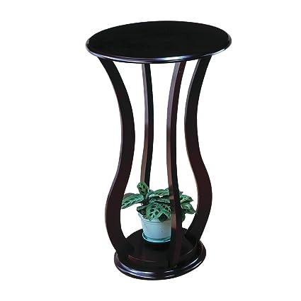 Coaster Espresso Curved Plant Stand