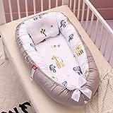 Baby bo, spädbarn som sover nyfödd bebis babykorg myssäng bo, 100 % bomull andningsbar mjuk bärbar spjälsäng madrass för…