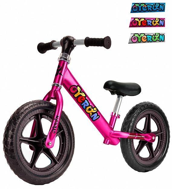 Oyerun Baby Fit Balance Bike - Kids Smart Adjustable Push Bikes (Plum)