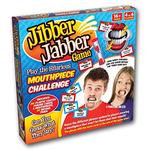 Jibber Jabber Party Game - The Hilarious Mouthpiece Speak Out Game for Christmas Loud Board Game Challenge - PRE ORDER - UK Edition Version by Tooltime from Tooltime