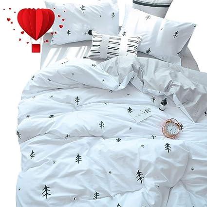 Amazoncom Bulutu Kids Duvet Cover Full Cotton Whitegreypremium