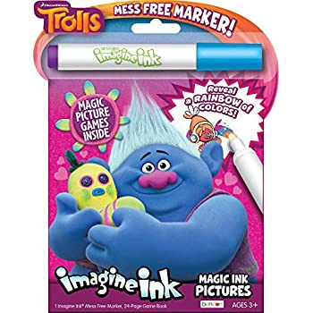 Bendon 68707 Trolls Imagine Ink Magic Ink Pictures, 24 Pages
