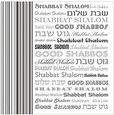 Servilletas para Shabbath hebreo texto en inglés: Shabbat Shalom ...