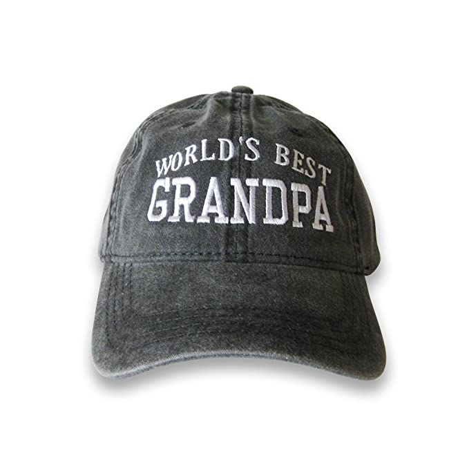 f660dfeb41a1d World's Best Grandpa Cap (Black) at Amazon Men's Clothing store: