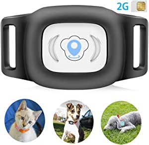 BARTUN GPS Pet Tracker, Cat Dog Tracking Device with Unlimited Range