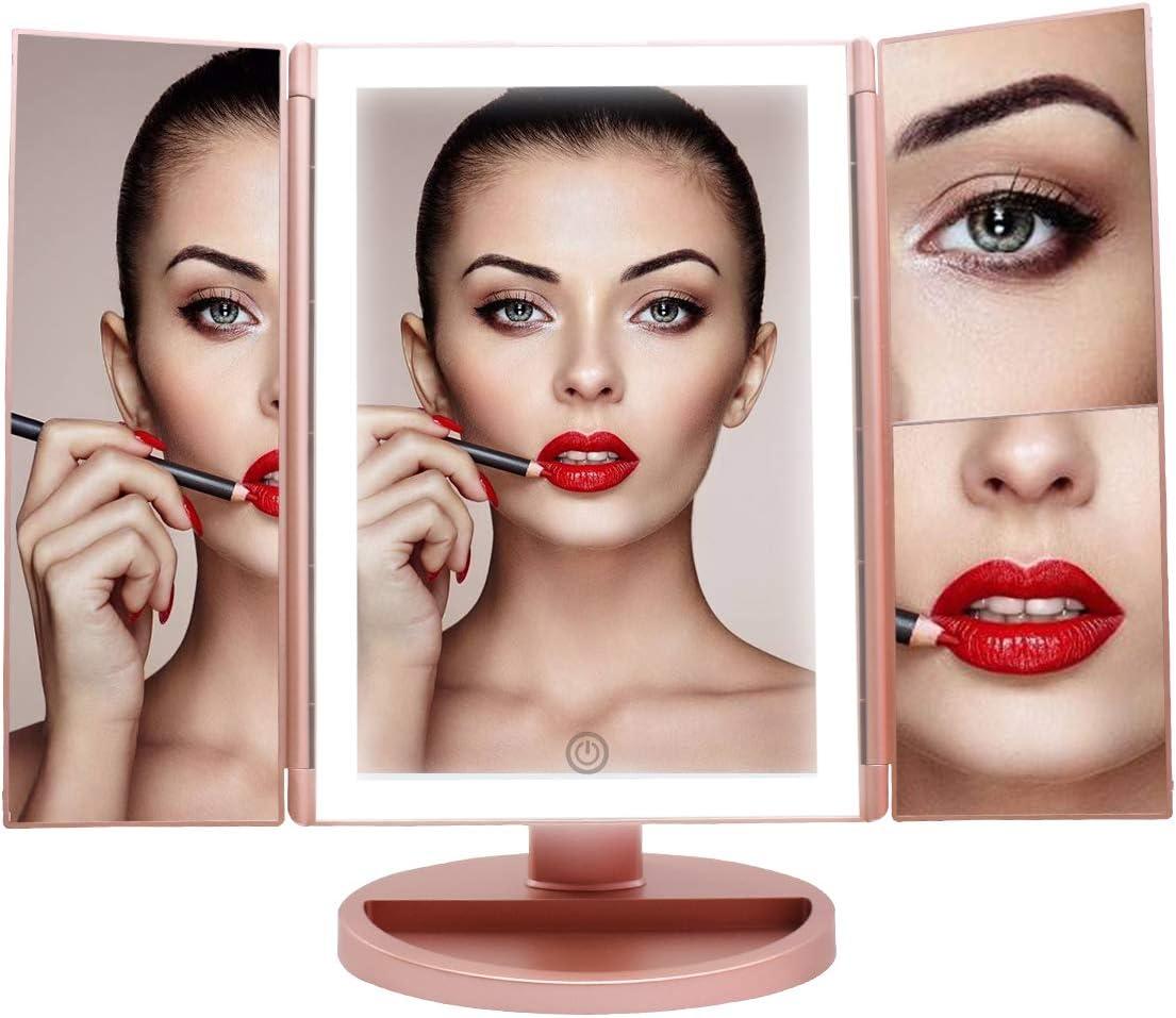 espejo con luz de maquillaje