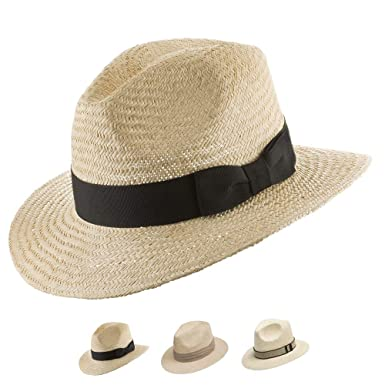 8bff4b52ba48fe Ultrafino Casual Safari Jack Panama Outdoors Natural Straw Flexible Hat  Natural 7