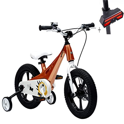 Huoduoduo Bicicleta, Bicicleta para Niños, Aleación De Magnesio De 14 Pulgadas, Pintura Segura