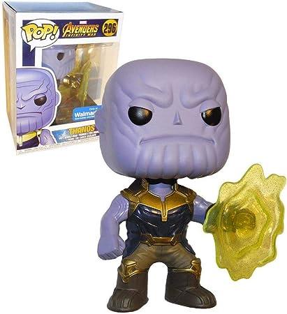 Funko POP! Marvel: EXCLUSIVE Avengers Infinity War Movie - Thanos Using Infinity Gauntlet Collectible Figure: Amazon.es: Hogar