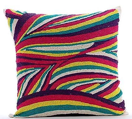 Amazon Handmade Multi Color Decorative Pillow Cover Colorful Delectable Multi Color Decorative Pillows