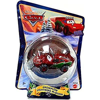 Disney / Pixar CARS Movie 155 Die Cast Figure Exclusive Christmas Package Snowplow Lightning McQueen: Toys & Games