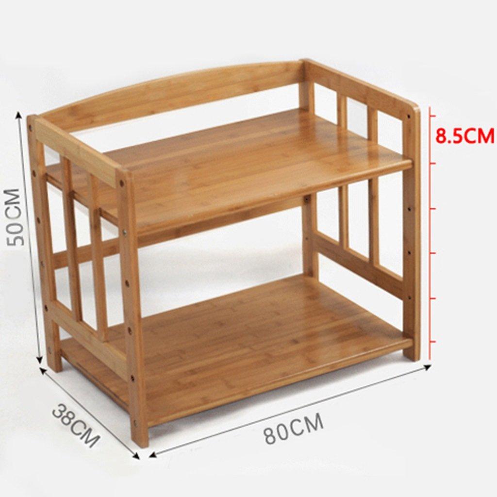 Estantes y soportes para ollas y sartenes HWF 2 Capas Suministros de Cocina Estantes Horno de microondas Rack Rack de Almacenamiento (Tamaño : 80cm): ...