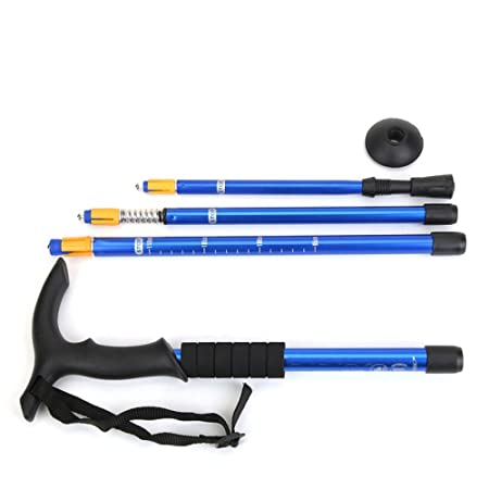 Amazon.com: DSFGHE Outdoor Trekking Pole T Type 4 Telescopic ...