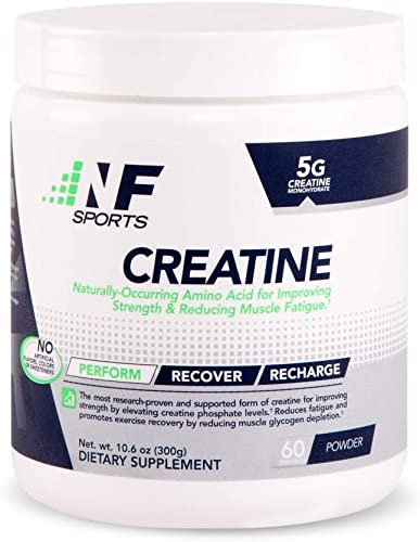 NF Sports Micronized Creatine Naturally-Occurring Amino Acid For Improving Strength Reducing Muscle Fatigue -100 Satisfaction Guaranteed – 60 Servings
