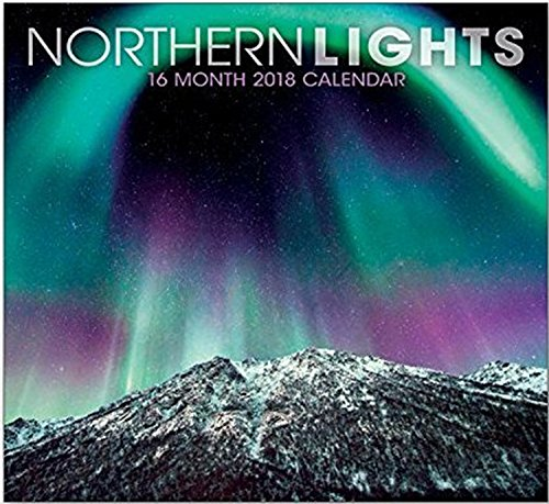 16 Month Premium Wall Calendar 2018 - Northern Lights - Each Month Displays Full-Color Photograph or Illustration. Printed on Linen Embossed Heavyweight Paper Stock