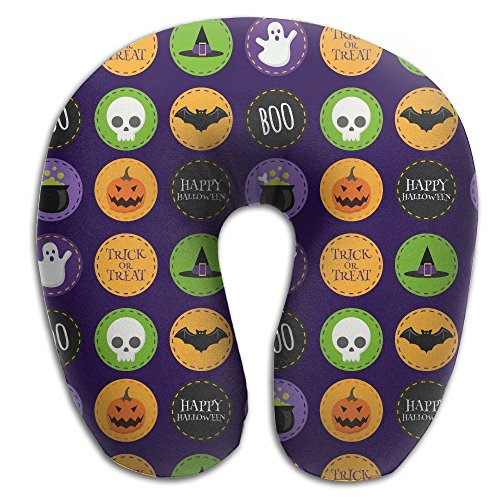 HTHF Creative Halloween Spooky Witch Hat Travel Aircraft Portable Neck Pillow Cute Design U Type Pillow - Ultimate Witch Hat