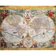 Map of the World (Orbis Terrarum) by Petrus Plancius 1594 - Art Poster Print (16x20)