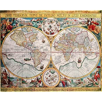 Amazon map of the world orbis terrarum by petrus plancius map of the world orbis terrarum by petrus plancius 1594 art poster print gumiabroncs Choice Image