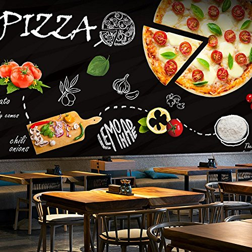 Colomac Wall Mural 3D Bright and Delicious Pizza Mural Suitable for Western Restaurant Cafe Dining Room Wallpaper 55 Inch x 27.6 Inch from colomac