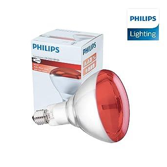 Infrarrojos Bombilla - 250W 230-250V (E27) - Emite Calor - Luz Roja