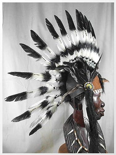 Feather Headdress Indian Headdress Native American Feather  Warbonnet Punk Hat