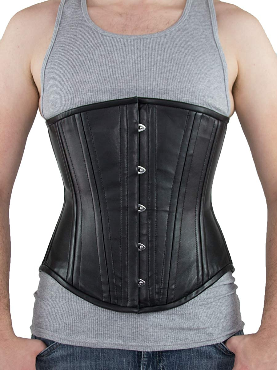 Orchard Corset CS-701 Leather Mens Authentic Underbust Original Steel Boned Corset for Waist Training