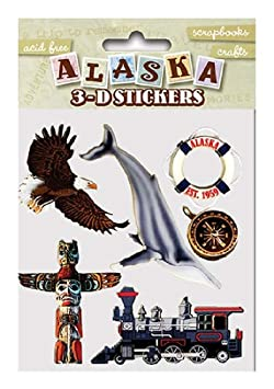 Alaska Scrapbooking Craft Stickers 3 D Totem Pole Inside Passage