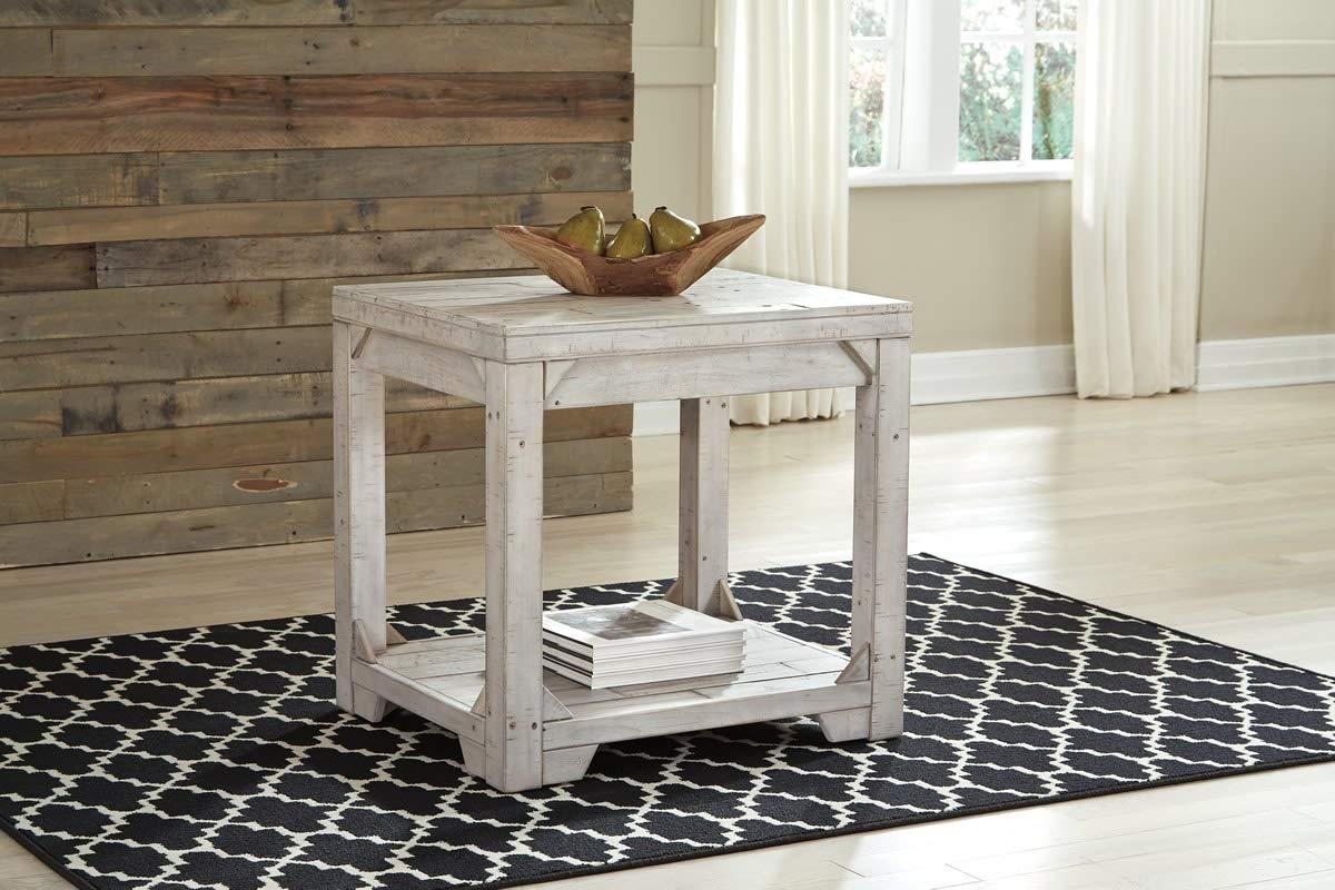 Signature Design by Ashley T755-3 Fregine End Table, White Wash
