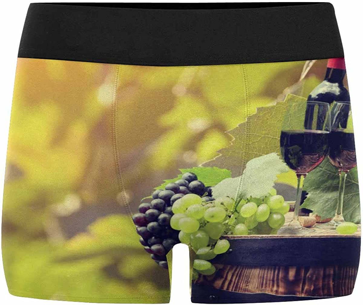 INTERESTPRINT Mens Boxer Briefs Wine Grape XS-3XL