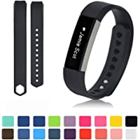 Fitbit Alta/Alta HR Watchband with HD Protective Films - Feskio Soft Silicone Replacement Metal Buckle Design Sport Wristband Bracelet Strap for Fitbit Alta/HR Smart Fitness Activity Tracker
