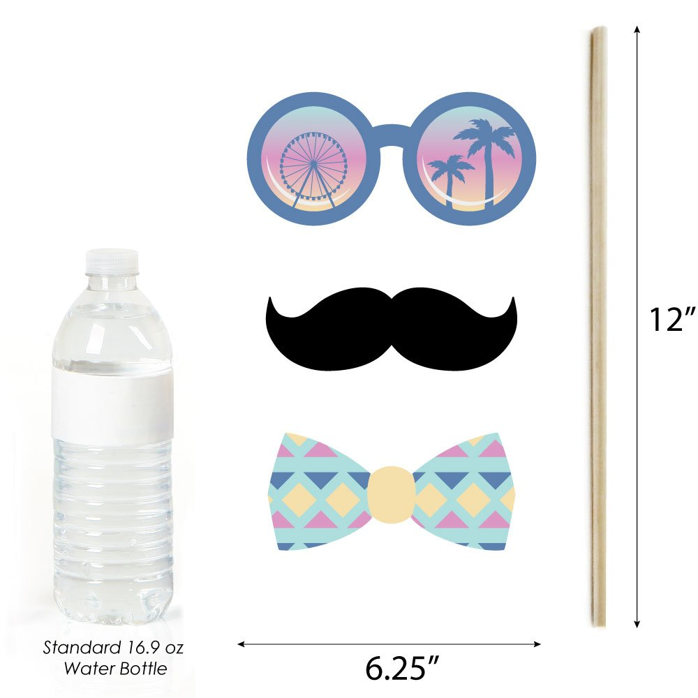 20 Count Big Dot of Happiness Bachella Palm Springs Boho Bachelorette Party Photo Booth Props Kit