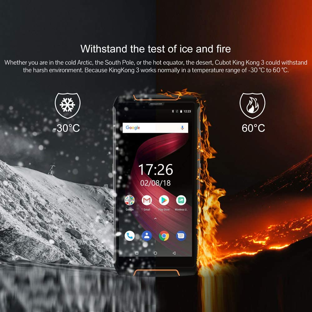 Cubot King Kong 3 Escabroso Teléfono móvil 4GB + 64GB 6000mAh 5,5 ...