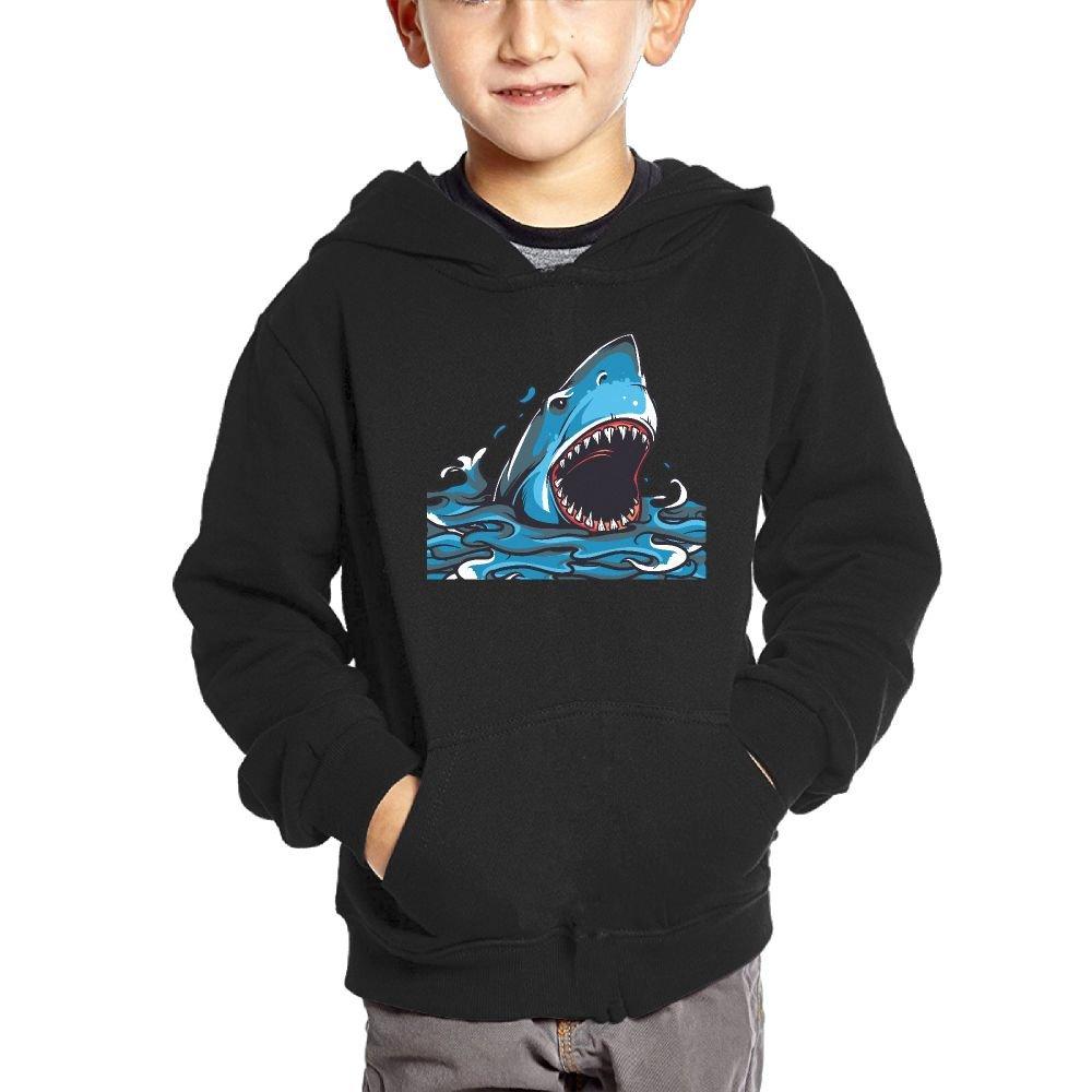 Small Hoodie Mouth Shark Cartoon Boys Graphic Sweatshirt Pullover Hoodie