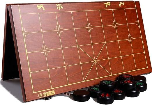 Gran Caja de Regalo Plegable de ajedrez Chino de ébano de Madera ...