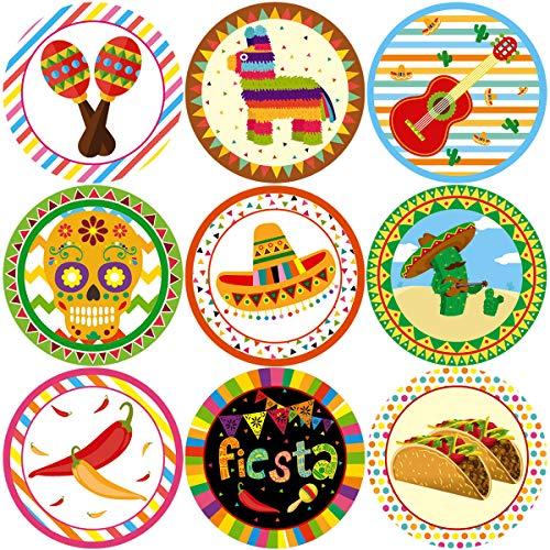 Fancy Land Fiesta Party Stickers Cinco De Mayo Festival Mexican Decorations 200Pcs Per Roll