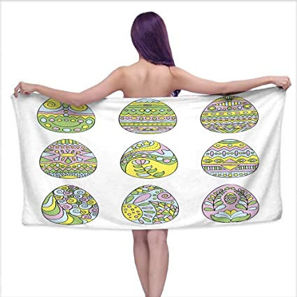 Amazoncom Aurauiora Bath Towels Easter Egg With Colorful