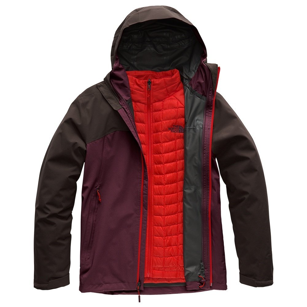 The North Face Men's Thermoball Triclimate Jacket - Fig & Bittersweet Brown - M