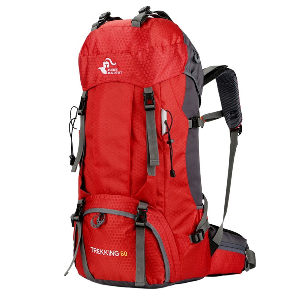 Litthing Mochila de Senderismo 60L Mochila de Trekking con Funda de Lluvia Mochila Impermeable de Camping Deporte Acampada al Aire Libre de Viaje Oxford Tela