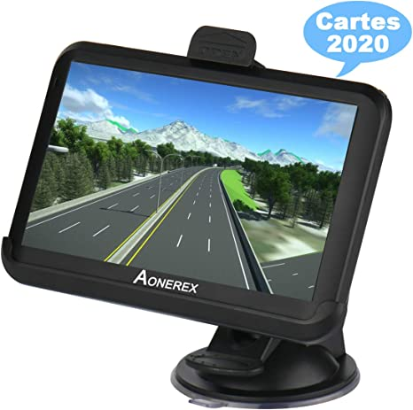 GPS Automatique Navigation Voiture 8GB//256MB 7 Pouces HD /Écran Tactile Syst/ème en Fran/çais Guidage Vocal 52 Pays Europe Cartes Mise /à Jour Gratuite /à Vie