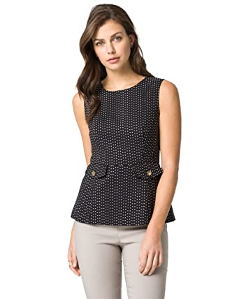 6ae0c0f891310b LE CHÂTEAU Diamond Tech Stretch Peplum Blouse