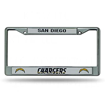 Amazon.com : San Diego Chargers Chrome License Plate Frame(New Logo ...