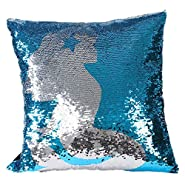 Reversible Sequins Mermaid Scale Cushion Cover, Xander Home Cafe Couch Throw Pillow Case