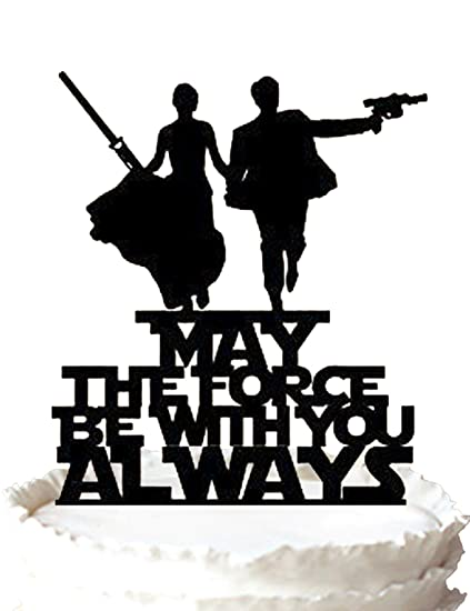 Amazoncom May The Force Be With You Always Wedding Cake Topper