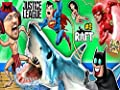 Batman and Superman Shark Attack - JL Saves the Day
