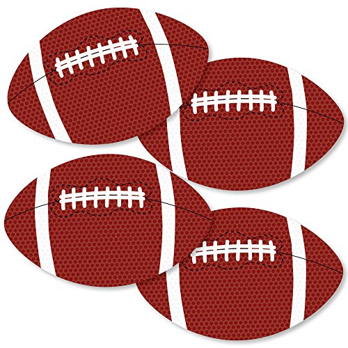 All Star Die Cut - End Zone - Football - Decorations DIY Baby Shower or Birthday Party Essentials - Set of 20